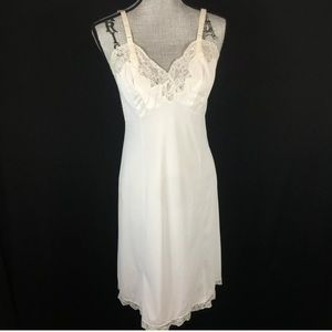 Gossard Artemis Vintage Lace Slip Dress 60s 70s M